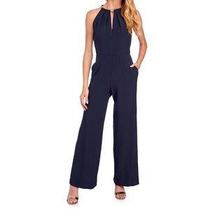 Donna Ricco navy blue jumpsuit